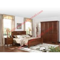 Quality English Country Style Solid Wood Bed in Wooden Bedroom Furniture sets wholesale