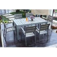 China Outdoor Plastic Wood Furniture Poly Wood Dining Set (BZ-P012) on sale