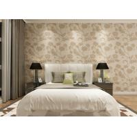 Buy cheap Khaki Color 3D Floral Wallpaper for Wall Decoration / PVC  Wall Coverings from wholesalers