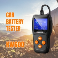 China CE FCC Konnwei KW600 Motorcycle car battery tester for all lead-acid batteries on sale