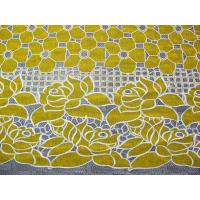 Cotton Yellow Polyester Lace Fabric Floral with Eco-friendly Dyeing(CY-DK0032)