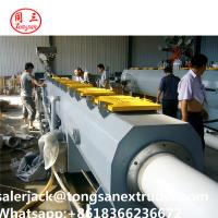 Quality pipe extrusion line SJSZ80/156 extruder   PVC CPVC UPVC pipe extrusion line wholesale