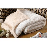 Quality Custom Solid Brushed Faux Fur Throw Blanket 100% Polyester 280gsm wholesale