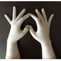 China Elastic Long Cuff Disposable Surgical Gloves , Disposable Latex Examination Gloves on sale