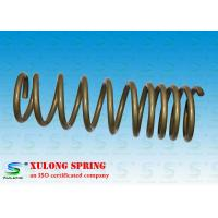 Quality 14mm Wire Off Road Automotive Coil Springs , Vehicle Coil Springs Gold Powder Coated XL-1118 wholesale