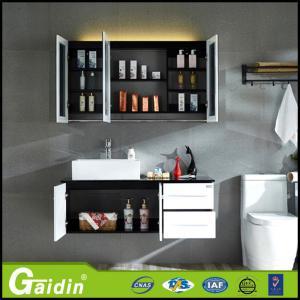 Quality Bath Mirror Type and Solid Wood Door panel bathroom cabinet wholesale
