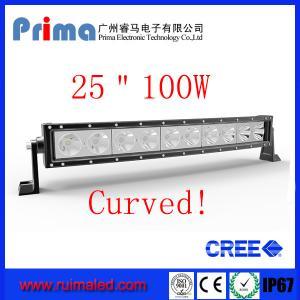 Quality 25 100W Curved Cree Led Light bar-Single Row Led Light Bar wholesale