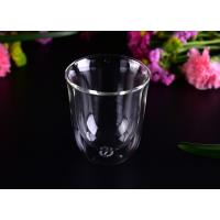 Quality Super Clear Double Wall Borosilicate Glass /  Party Double Wall Glass Tumbler 8.6*4.3*10cm wholesale