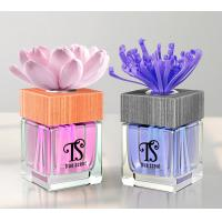 China Square Glass Bottle 100ml Elegant Flower Fragrance Reed Diffuser with ISO, SGS TS-RD06 on sale