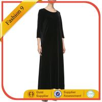 Quality 34-Sleeve Long Dress, Black wholesale