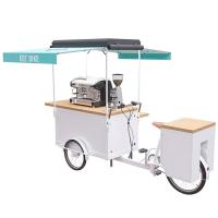 China Stainless Steel Electric Coffee Bike With Natural Solid Wood Work Table on sale