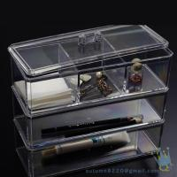 Quality acrylic clear cube makeup organizer wholesale