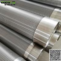 Quality Continuous slot johnson wire well screens pipe for water well and oil well drilling wholesale