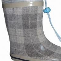 Quality New fabric feel rubber boots, fashionable design wholesale