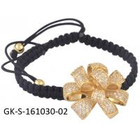 Quality Charming simple style 925 sterling silver jewellery cz flower bracelet for engagement, gift, party, wedding wholesale