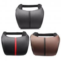 Quality Hot sell leather material black car use god quality car neck pillow wholesale