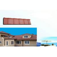 Polished eco Corrugated Double Roman Roof Tiles For house Slop Roofing