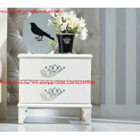 Quality Ivory Classic Bed side table with wooden drawers for Nightstand design used by Hotel and Villa Furniture wholesale