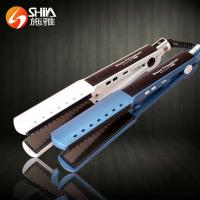 China pro nano titanium hair styling tools hair straightener flat iron with comb on sale