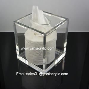 Quality Plexiglass Weatherability Acrylic Tissue Box / Facial Tissue Dispenser With Sgs Standards wholesale