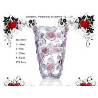 China Wedding, party Decoration painting, clear color Flower Personalized Glass Vase / Vases on sale