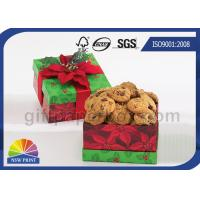 Quality Cookie / Chocolate Food Packaging Box , Customized Gift Wrapping Boxes with Art Paper wholesale