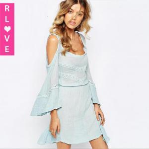 China America sexy strapless lace stitching strap dress elegant chiffon dresses on sale