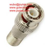 Buy cheap BNC Male To F Female zinc die-casting connector 50ohm BNC plug to F jack Coax Adapter BNC Coaxial Adaptor CCTV Connector from wholesalers