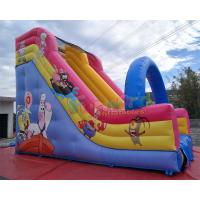Quality Spongebob Animation Commercial Inflatable Slide 0.55mm PVC Tarpaulin Material wholesale
