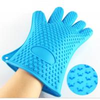China High Quality Kitchen Baking Glove Star Points Silicone Hot Pads Gloves on sale