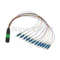 Quality Data Communication Network MPO / MTP TO LC Cable / 12 Core Fiber Optic Cable wholesale