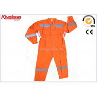 Customized Anti Shrink Plus Size Coverall Uniforms Hi Visibility Clothing