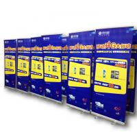China Retractable Roll Up Banner Display No Edge Curved Heat Transfer Printing on sale