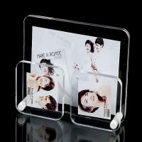 Quality Office Clear plastic photo frames Lightweight with 3 picture holders wholesale