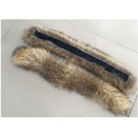 Quality Natural Colour Warm Raccoon Fur Collar Eco Friendly For Hood Kids Parka wholesale