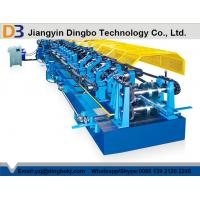 Quality Color Steel Tile Pre - Cutting Purlin Machine With Worm Gear Box Transmission wholesale