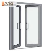China Aluminium Double Glazed French Doors , Soundproof French Hinged Doors STEEL DOOR HINGE swing door hinge DOOR CONCEAL on sale