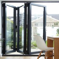 Quality Folding Bifold Commercial Aluminium Doors Tempered Glass Inward / Outward Opening wholesale