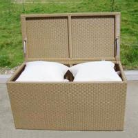 Quality PE Rattan Constructed UV Resistance Outdoor Cushion Box wholesale