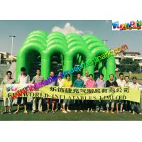 Quality Fire Retardant PVC Inflatables Obstacle Course 5K Climbing Jumping Castle wholesale