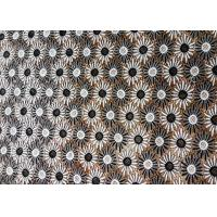 Quality Finest Vogue Black And White Water Soluble Embroidered Lace Fabric For Lady , Daisy Flower Pattern wholesale