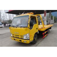 China ISUZU 4X2 100HP Wrecker Tow Truck 4.2 Meters Flatbed Accident Recovery Truck on sale
