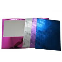 Quality Colorful 2 Pockets Paper Portfolio Folder / recycled paper folder With Laser Film wholesale