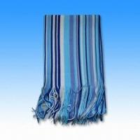 Quality 100% Acrylic Knitted Striped Scarf Measuring 156 x 26cm wholesale