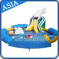 China Use On Land Inflatable Water Park With Inflatable Floating Games , Inflatable Water Park Pool on sale