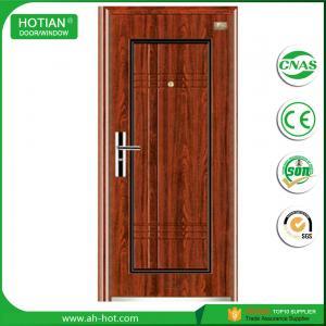 Quality front steel doors, iron gate main wood carving design steel security door wholesale