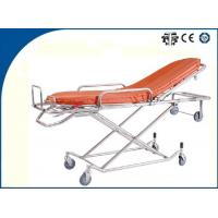 China Light Weight Foldable Aluminum Alloy Ambulance Trolley Stretchers Auto Loading for Outdoor Rescue on sale
