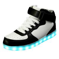 China Durable Light Up High Top Sneakers , Aqua And White High Top Led Shoes on sale