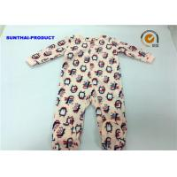 Quality Penguin Applique Baby Girl Coverall 100% Polyester Micro Fleece Pram Suit wholesale