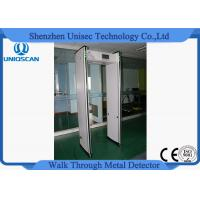 Quality Pass Through Foldable Digital Portable Metal Detector Security Gate With 3 Detect Zone wholesale